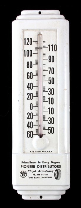 Art Deco Texaco Thermometer Cut Bank Montana