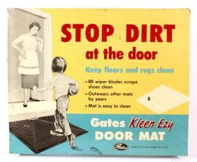 Gates Rubber Company Advertising Sign