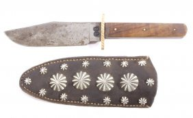 Early Northern Plains Fur Trade Bowie Knife 19th