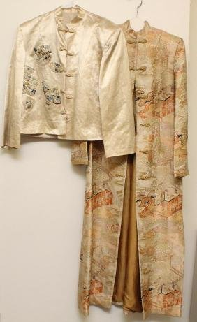 Pair Of 1930's-40's Custom Made Items From Shanghai,