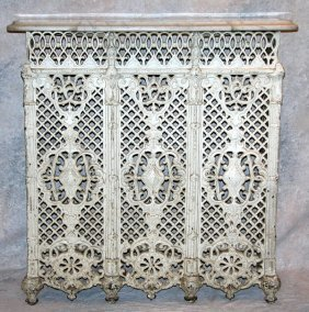 893 victorian cast iron radiator cover lot 893 - Cast iron radiator covers ...