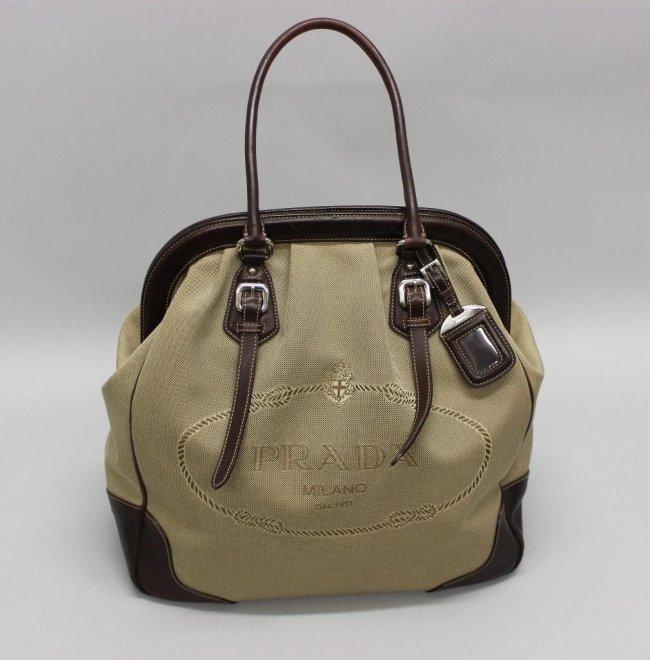 Prada \u0026quot;Logo Jacquard Corda \u0026amp; Moro\u0026quot; Handbag : Lot 1112