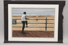 Tony Fachet (20th C, Pennsylvania), Boardwalk.