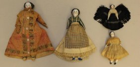 "LOT OF (4) ANTIQUE CHINA DOLLS: 4""- 9 1/2""."