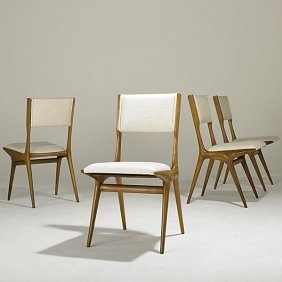 CARLO DI CARLI; SINGER & SONS Four Side Chairs