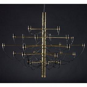 GINO SARFATTI; ARREDOLUCE Brass Chandelier