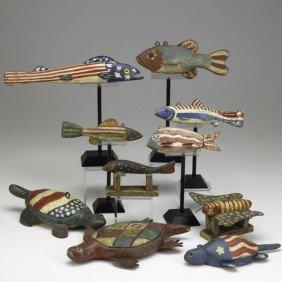 PATRIOTIC FISH DECOYS