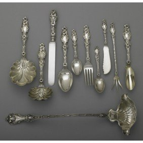 ORNATE AMERICAN STERLING FLATWARE