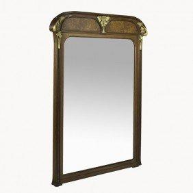 LOUIS MAJORELLE; Large Over-mantel Mirror