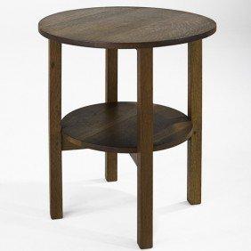 GUSTAV STICKLEY; Lamp Table