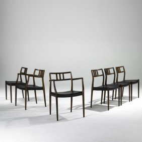 NIELS O. MOLLER; Six Dining Chairs