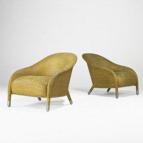 ANTONIO CITTERIO; Pair Of Club Chairs
