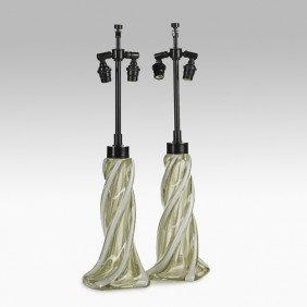 ARCHIMEDE SEGUSO; Pair Of Table Lamps