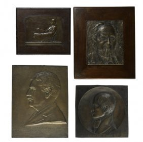 Bronze Plaques & Medallions Of Scholars And