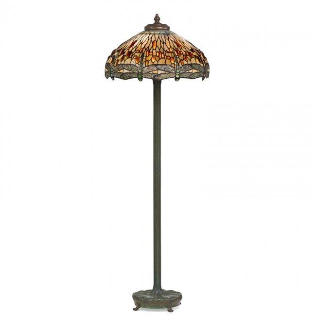 tiffany studios dragonfly floor lamp lot 312. Black Bedroom Furniture Sets. Home Design Ideas