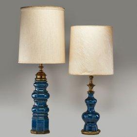 stiffel crystal table lamp w brass base lot 27202. Black Bedroom Furniture Sets. Home Design Ideas