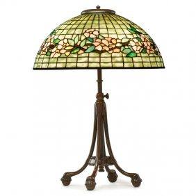 Tiffany Studios Fine Apple Blossom Table Lamp