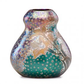Jacques Sicard; Weller Gourd Vase