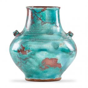 Jugtown Fine Chinese Blue Urn
