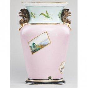 Union Porcelain Works Vase With Monkeys