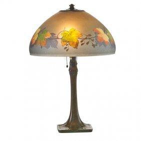 Handel Table Lamp, Maple Leaf Shade