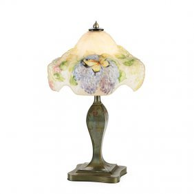 Pairpoint Puffy Boudoir Lamp, Lilac Tree Shade