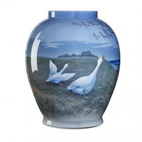 Royal Copenhagen Large Porcelain Vase