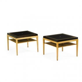 Tommi Parzinger Pair Of Side Tables