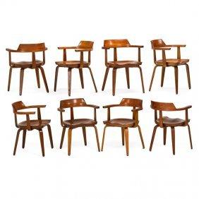 Walter Gropius; Thonet Eight W199 Chairs