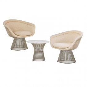 Warren Platner Lounge Chairs And Table