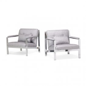 Cy Mann Pair Of Lounge Chairs