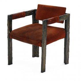 Paul Evans Sculptured Metal Armchair