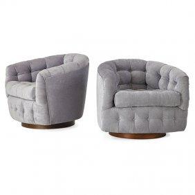 Milo Baughman; Thayer Coggin Pair Of Lounge Chairs