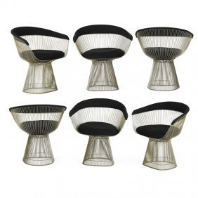 Warren Platner; Knoll Int. Six Dining Chairs