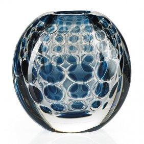 Ingeborg Lundin; Orrefors Ariel Glass Vase