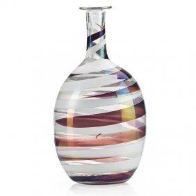 Carlo Scarpa; Venini Rare A Pennellate Glass Vase