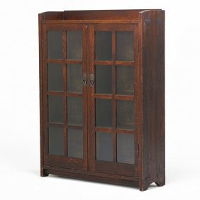 Gustav Stickley Double-door Bookcase