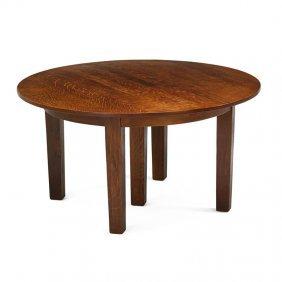 Gustav Stickley Five-leg Dining Table