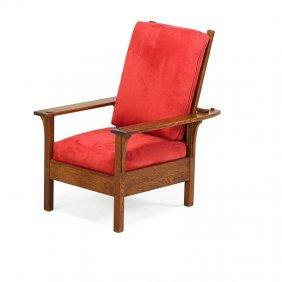 L. & J.g. Stickley Open-arm Morris Chair