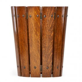 Gustav Stickley Wastebasket