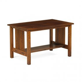 Gustav Stickley Spindle Library Table