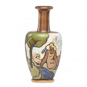 Mougin Vase W/ Women In Landscape