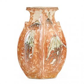 Martin Brothers Vase With Jellyfish