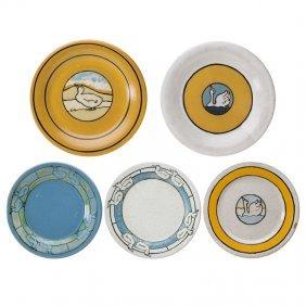 Saturday Evening Girls Five Plates
