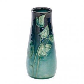 Rookwood Sea Green Vase W/ Sweet Peas