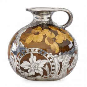 Rookwood Pitcher W/ Silver Overlay