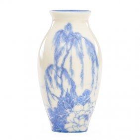 Rookwood Small Ivory/ivory Jewel Porcelain Vase