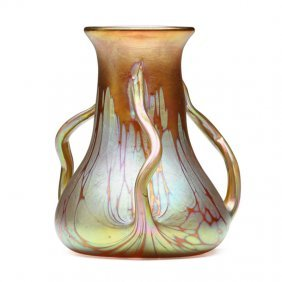 Loetz Rare Three-handled Vase