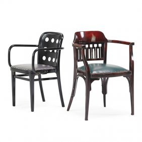 Otto Wagner; Josef Hoffmann Two Chairs