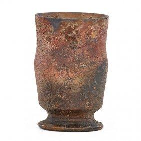 George Ohr Vase With Volcanic Glaze